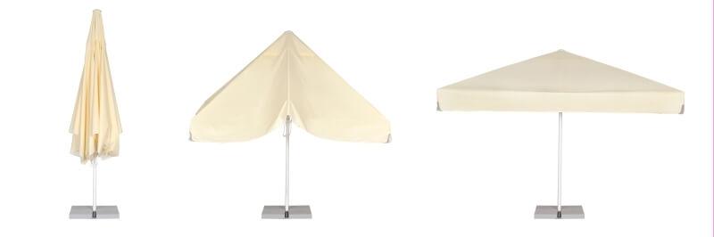 Sekwencja otwierania parasola ogrodowego