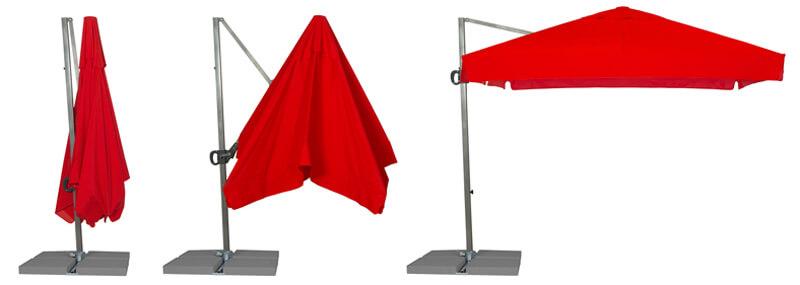 Sekwencja otwierania parasola Rio 3m
